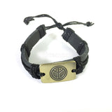 Peace Leather Bracelet Wrist Cuff Band Friendship Surfer Hipple UNISEX