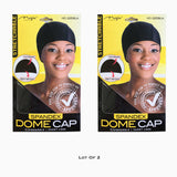 Lot Of 2 Packs Dome Hat Wave Cap Breathable Material Hip Hop Stocking Fabric