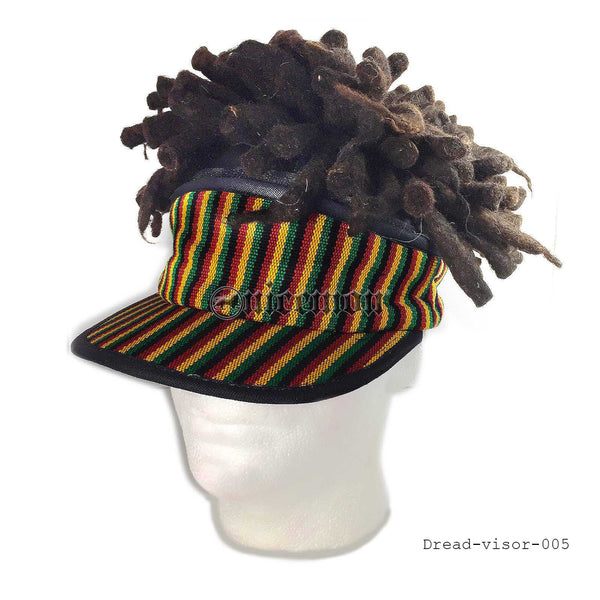 Rasta Visor Dreadlocks Dread Wig Hat Rastafari Costume