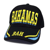 Bahamas Bahamian Stripe Colors Baseball Ball Cap Hat Nassau Afro 1sz