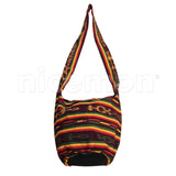 Rasta Shoulder Bag Hippie Boho Cotton Reggae Surfer Long Strap Handbag RASTAFARI