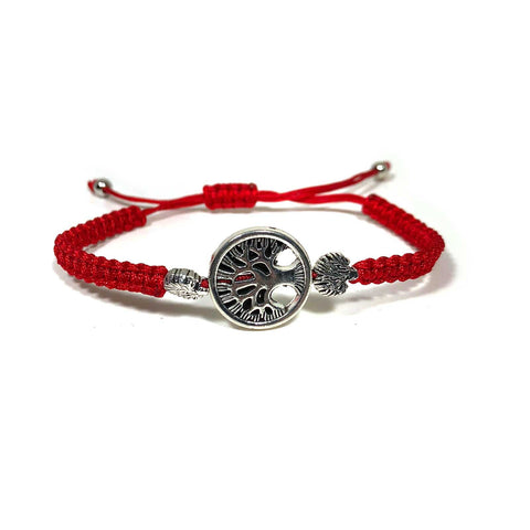 Tree Of Life Knotted Red String Protection Bracelets Adjustable 5mm String