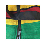 Jamaica Sack Tote Bag Reggae Style Roots Color Surfer Heavy Cotton 18""