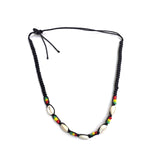 Rasta Shell Necklace Jamaica Reggae Hawaii Marley Rasta 18""