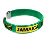 Jamaica National Flag Bracelet Wrist Threaded Bracelet Cuff 1SZ