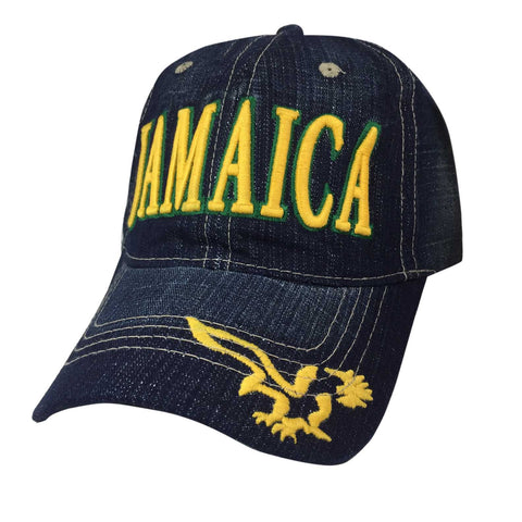Jamaica Blue Jeans Ball Baseball Cap Hat One Love Kingston Usain Marley 1 SZ FIT