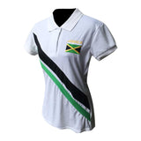 Jamaica Polo Ladies Shirt Irie Reggae Irie  Big Up One Love Kingston Rasta ROOTS