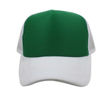 Trucker Polyester Mesh Foam Front Baseball Ball Blank Color Hat Cap ADJUSTABLE
