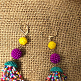 Womens Empress Dangle Large Abtract Balls Earrings Earring Multi-Color LG