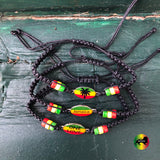 Jamaica One Love Braided Bracelet Reggae Bracelets Concious Goods 1 SZ FIT