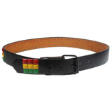 Rasta Rastafari Roots Leather Belt Jamaica Reggae Dancehall Marley Negril 1LOV