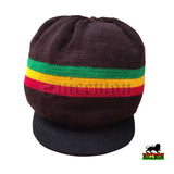 Rasta Roots Hat Berret Cap Crown Reggae Marley Jamaica Irie Rastafari M to L Fit