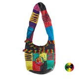 Peace Love Unity Rastafari Hippie Hobo Messenger Bag Reggae Hawaii Marley IRIE