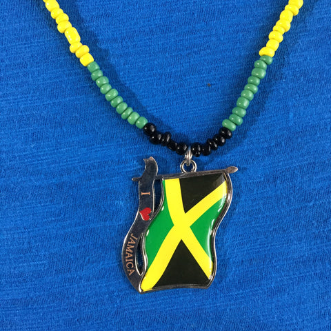Jamaica Flag Pendant One Love Cool Runnings Dog Tag Necklace Jamaica Marley 20""