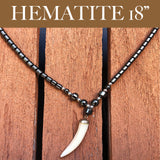 Hematite Choker Necklace Pendant Peace Hematite Fashion Necklace Unisex 18""