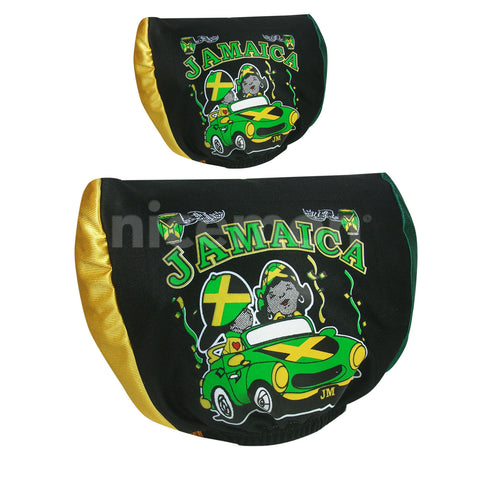 Jamaica Headrest Cover 2 Sided Graphics Jamaican Colors Yardie Lion Of Judah 1 Sz