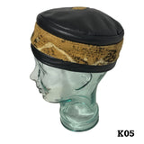 Kufi Skull Skully Cap North Western Africa African Cap Hat Kufi Leather KUFI