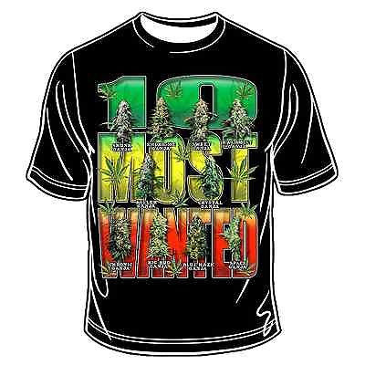 Ten Most Wanted T-Shirt Hippie Bobo Root Rasta Reggae Africa Marley Jamaica JAH