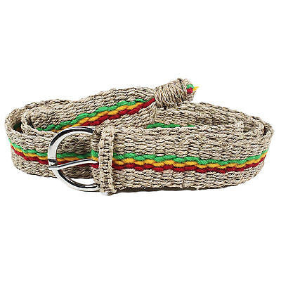Rasta Hemp Jamaica Reggae Belt Marley Rastafari Roots Belt Cool Runnings ROOTS