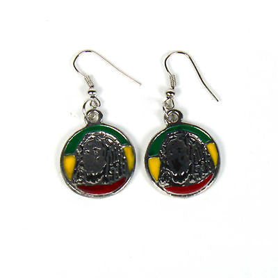 Jamaica Rasta Irie Earrings Marley Reggae Earrings Rastafari Jamaican Style NEW