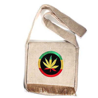 Hippie Hemp Boho Rastafari Jamaica Rasta Shoulder Bag Reggae Marley Hawaii IRIE
