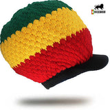 Reggae Roots Zion Rasta Hat Crown Cap Jamaica Marley Dreadlocks Vibes L/XL Fit