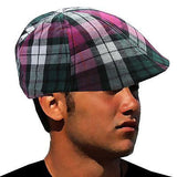 Classic Plaid Great Gatsby Cabbie Cap Hat Roaring Twenties Cotton Cap 1SZ Fit