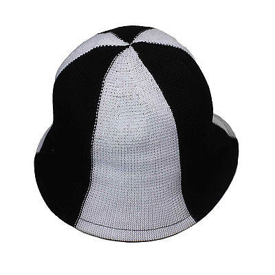 Bucket Black & White Surfer Cap Hat Hippie Boho Beach Style Easy Fit 1 size Fit