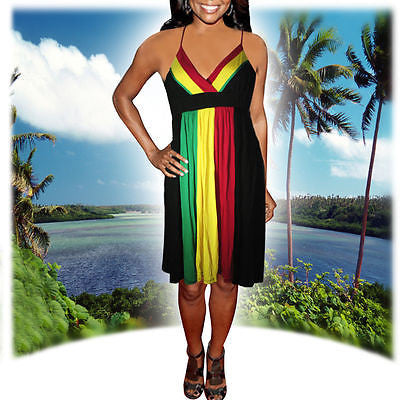 Rasta Ladies Empress Dress Rootsgirl Irie Jamming Negril Vibe Reggae Jamaica NEW