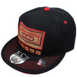 Hip Hop Hiphop Urban Wear Cap Hat Baseball Gangster Fitted Black Fitted OLD SCH