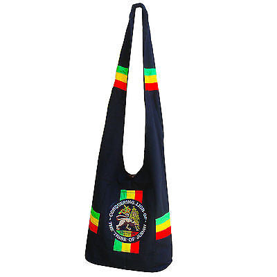 Lion Of Judah Rastafari Rasta Shoulder Bag Messenger Bags Jamaica 100% COTTON