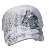 Army Fidel Style Cap Hat Summer Vintage Symbol Of the Saints Cool Design Fit S/M
