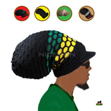 Jumbo Rasta Hat Cap Rastafari Roots Reggae Peak Crown Super Tall Marley XL/XXL