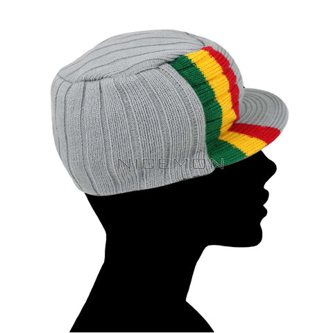 ... Roots Reggae Beanie Knit Cap Hat Kufi Rasta Surfer Hawaii Jamaica SMALL  fit c5812fecdd37