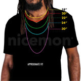 Large Neckace Pendant Alloy Costume Jewerly Rasta Hip Hop Dancehall Roots 20""