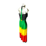 Jamaica Rasta Dress Empress Style Reggae Cool Runnings Hawaii Negril Dress