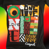 One Love Ladies Roots T Shirt Rasta Reggae Rockers Irie 100% Cotton Cooyah CY