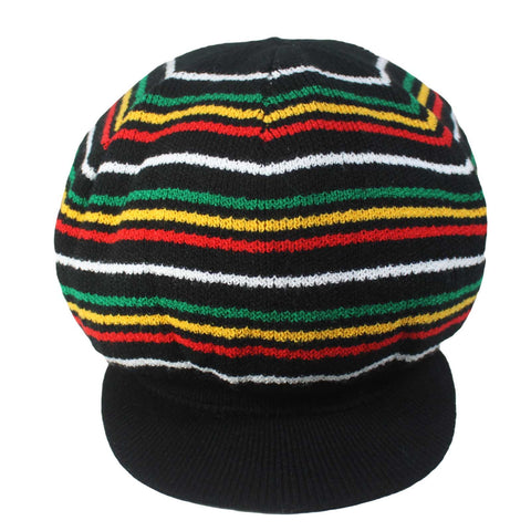 2 Sided Rasta Rastafari Dreadlocks Reggae Irie Hat Cap Bonet Jamaica Hats M/L