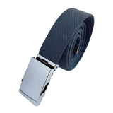 Military Canvas Belt Mens Womens Ajustable Chrome Buckle One Size Fit