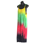 Roots Ladies Empress Long Dress Rasta Color Reggae Cool Runnings ONE SIZE FIT