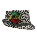 Leopard Print Fedora Hat Cap Fedora Hat Lion Of Judah Patch Fedora ONE SIZE FIT
