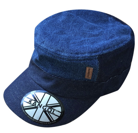 85e5481eae3 Kangol Cadet Blue Jeans Jah Army Military Army Cadet Cap Hat 100% Cotton  ARMY