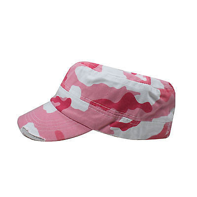 Castro Military Pink 100% Cotton Army Cadet Cap Hat Rasta URBAN 1sz Fit