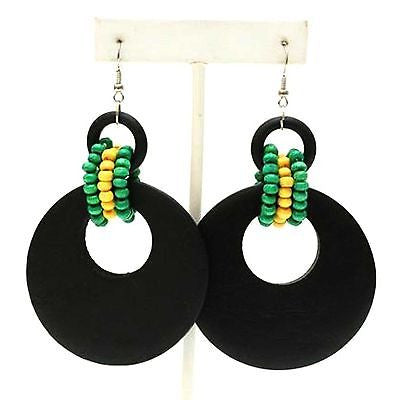 Empress Royalty Jamaica Rasta Irie Earring Marley Reggae One Love Jamaica NEW