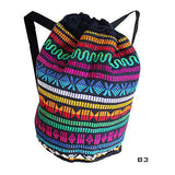 Hippie Festival Bobo Surfer Drawstring Backpack Tote Duffel Bag 100% COTTON IRIE