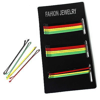 Rasta Color Hair Pins Big Up Jamaica Reggae Africa Empress Bob Roots Hairpin NEW