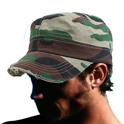 Fidel Cap Cadet Military Style Hat Army Hunting Camouflage Cap Castro 1sz  Fit