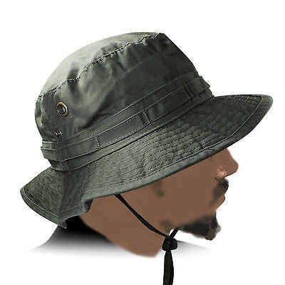 Army Green Cadet Jungle Cap Hat Hunting Army Marines Miltary Adult Size 1sz Ft