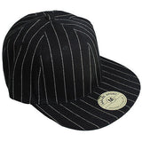 Hip Hop Hiphop Urban Wear Cap Hat Baseball Gangster Pin Stripes Headwear FITTED