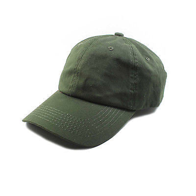 ... Army Green Cap Cadet Military Style Baseball Hat Brass Buckle Adjuster  1sz Fit ... e6425e10fc1
